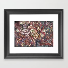 Ludus in fabula Framed Art Print