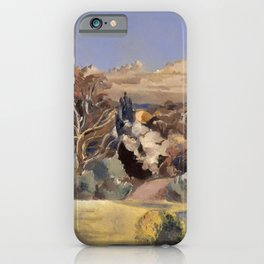 Landscape with Moon iPhone Case