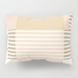 Marfa Abstract Geometric Print in Beige Pillow Sham