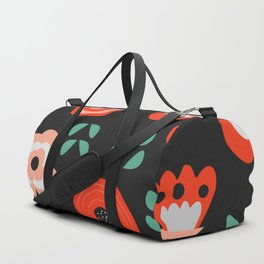 Midnight floral decor Duffle Bag