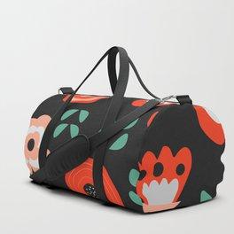 Midnight floral decor Duffle Bag