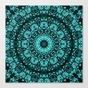 Teal Turquoise Floral Mandala by ninabaydur