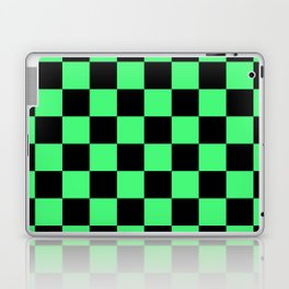Black and Green Checkerboard Pattern Laptop & iPad Skin