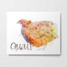 Quail Metal Print