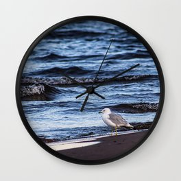 Seagulll by the Waves Wall Clock