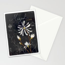 "Botanical illustration ""Magnolia Stellata"" Stationery Cards"