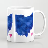 ohio Mugs featuring Ohio by Kathy Morton Stanion