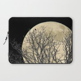 Tree with Crow Against Full Moon A181 Laptop Sleeve