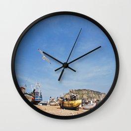 Working Beach Wall Clock