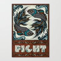 fight Canvas Prints featuring Fight by Andreas Preis