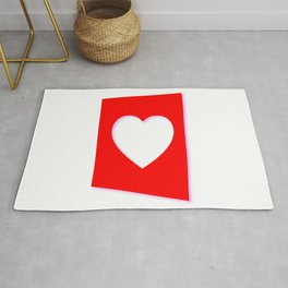 Valentine Heart Background Rug