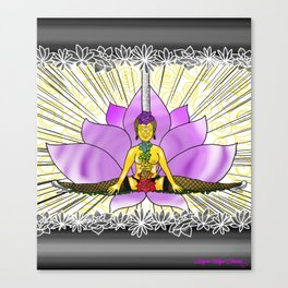 Chakras With Lotus Canvas Print