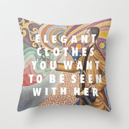 Portrait of Elegance Throw Pillow