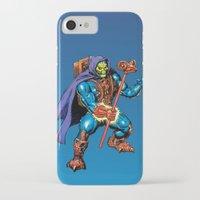 skeletor iPhone & iPod Cases featuring Laser Light Skeletor by CromMorc