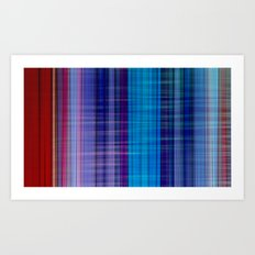 Red, Blue & Violett Art Print