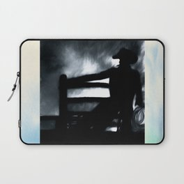 Cowboy In The Misty Night Laptop Sleeve