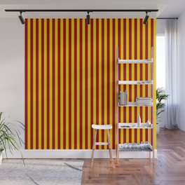 Cardinal and Gold Vertical Stripes Wall Mural