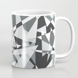 Gray-scale Triangle Scatter Coffee Mug