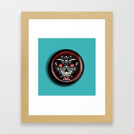 Cute Skull Maori Framed Art Print
