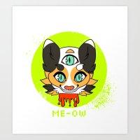 alt j Art Prints featuring ME-OW! ALT by Samedi J.