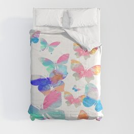 Butterflies Colorful Pattern Comforters