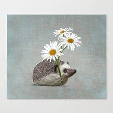 Hedgehog in love Canvas Print