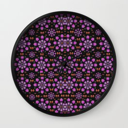 Roses and Fantasy-Roses Wall Clock