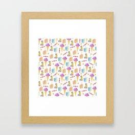 Birthday Girl Pattern Framed Art Print