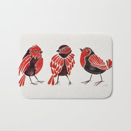 Finches – Red & Black Palette Bath Mat