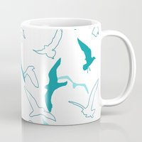 flight Mugs featuring Flight  by Norman Duenas