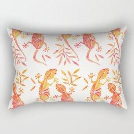 Geckos – Fire Palette Rectangular Pillow