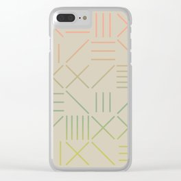 Geometric Shapes 11 Gradient Clear iPhone Case