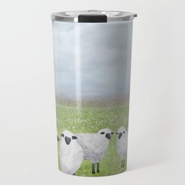 sheep and queen anne's lace Travel Mug