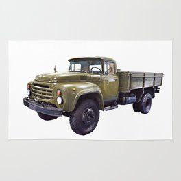 Old military russian truck Rug