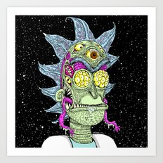 Monster Rick Art Print