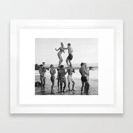 Vintage Beach Party 1 Framed Art Print