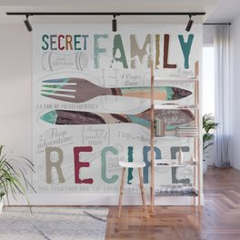 Secret Family Recipe Wall Mural