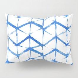 Blue Shibori Japanse Pattern Pillow Sham