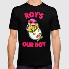 SUPER SMASH BROS: Roy's Our Boy! Mens Fitted Tee Black 2X-LARGE