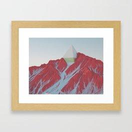MOUNT PYRAMID Framed Art Print