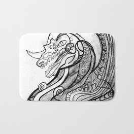 Dragon in pot Bath Mat