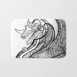 Dragon in pot Bath Mat