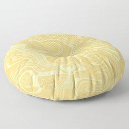 Yellow Liquid Marble Floor Pillow