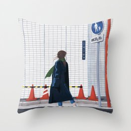 Unfamiliar palce, Unfamiliar time_ver1 Throw Pillow