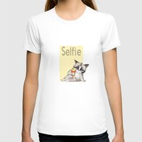 french fries T-shirts featuring Selfie with French Fries by stylishbunny