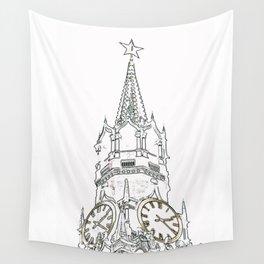 Kremlin Chimes- white Wall Tapestry