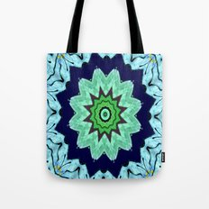 Lovely Healing Mandalas in Brilliant Colors: Light Blue, Dark Blue, Mint, Purple, and Green Tote Bag