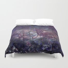 Cracked Purple Geode Texture Duvet Cover