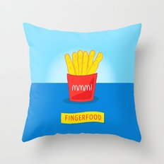 Fingerfood Throw Pillow