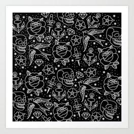 Black flash Art Print